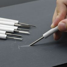 7Pcs Wood Carving Knife Tools Set Mini Walnut Engraving Aluminum Engraver Supply