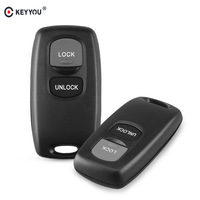 KEYYOU 30pcs Replacement 2 Buttons Car Remote Control Key Shell Case Keyless Entry For Mazda 2 3 6 323 626 Fob Key Cover