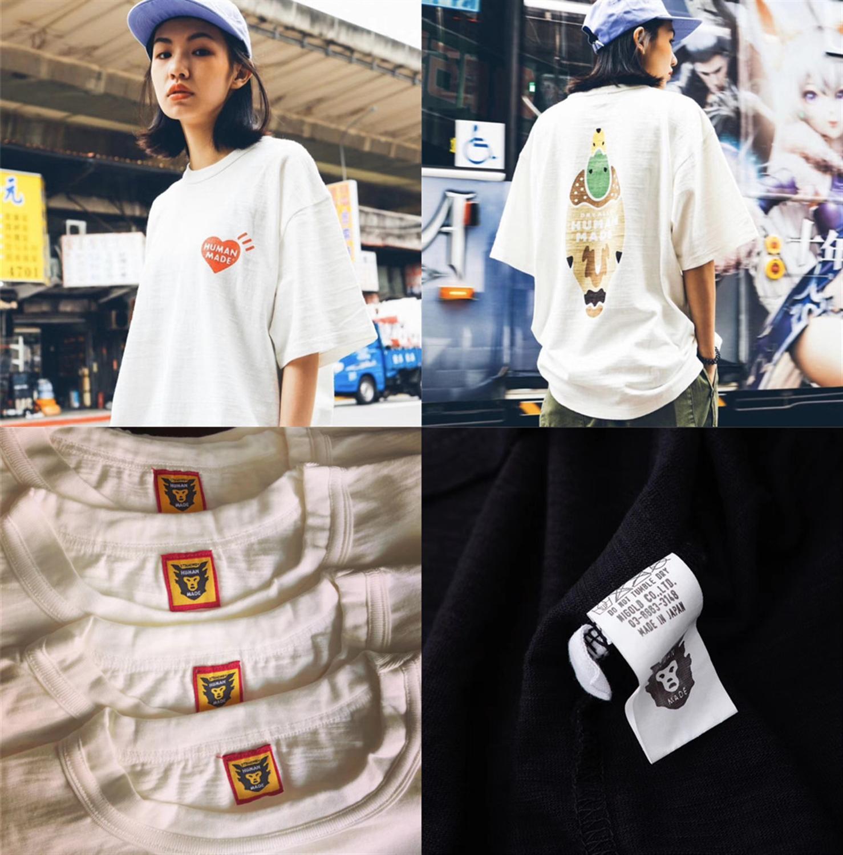 Slub Cotton 2020ss HUMAN MADE T Shirt Men Women 1:1 High Quality Top Tees Summer Style