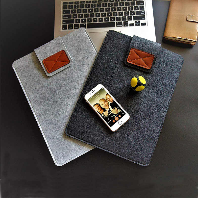 Wol Merasa Laptop Case Cover untuk Macbook Udara Pro Retina 11 12 13 15 Tas Laptop 9.7 17 Inch Notebook tas untuk DELL Samsung Sony