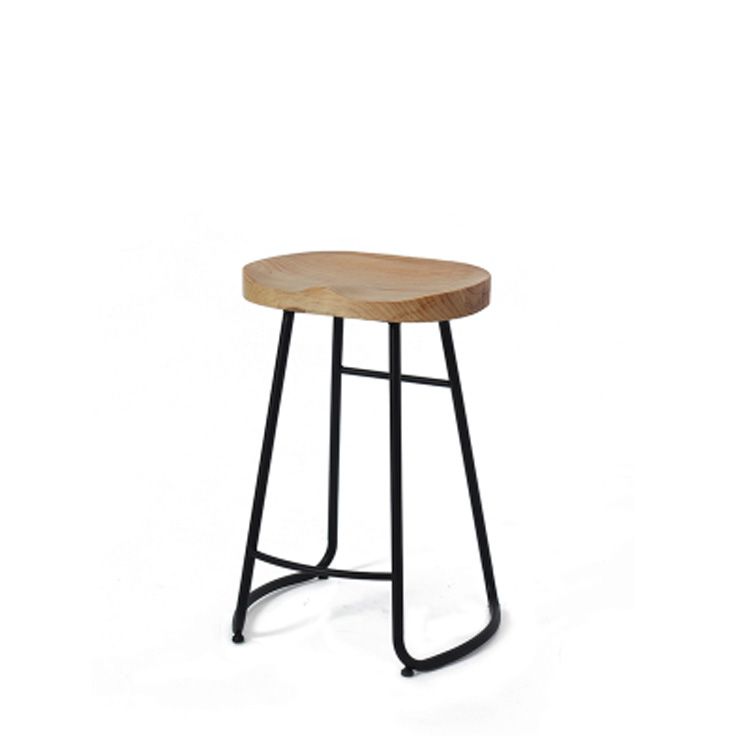New Bar Chair  Furniture Commercial  Solid Wood Creative  Stool Restaurant   High  Coffee
