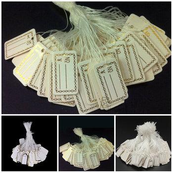 100 sztuk metka z ceną tagi String Tie zegarek biżuteria wyświetlacz towar metka z ceną papier do etykiet karty prostokątne puste metka z ceną tanie i dobre opinie CN (pochodzenie) Bags DO ODZIEŻY Label Price Tags Przyjazne dla środowiska