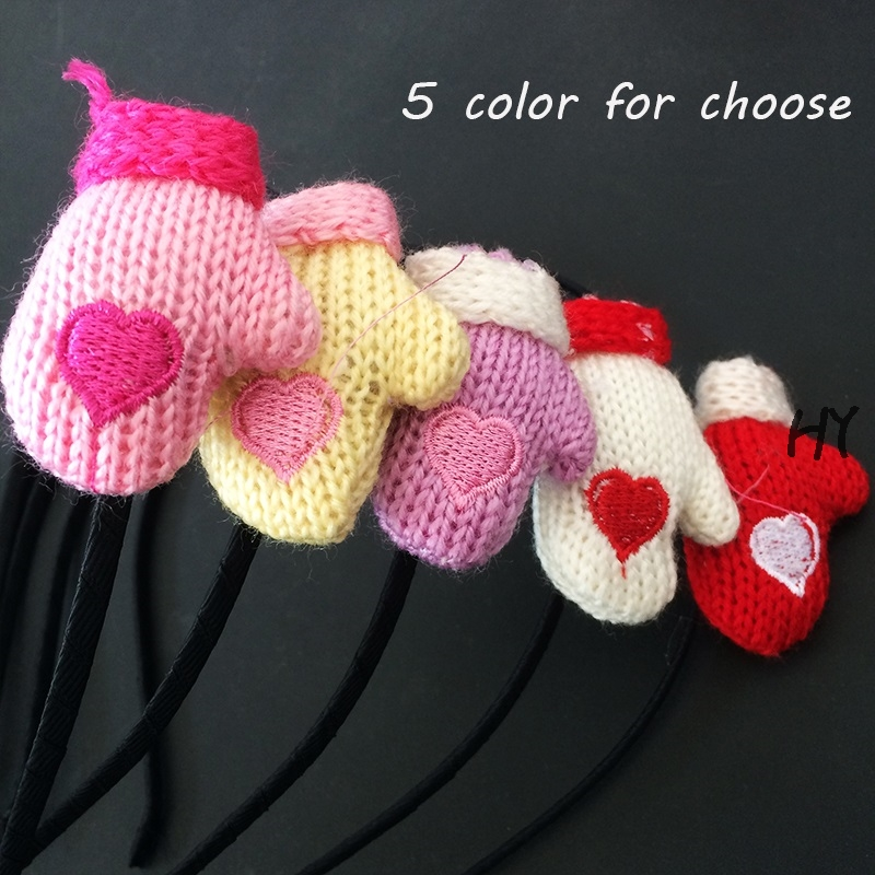 1 Pcs/lot Glove Headband Crochet Knitted Hairband Headwrap Hair Band Accessories For Girls