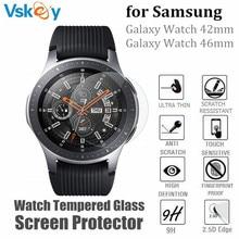 VSKEY – Film de protection en verre trempé, 10 pièces, pour Samsung Galaxy Watch 46mm et 42mm, Film de protection résistant aux rayures