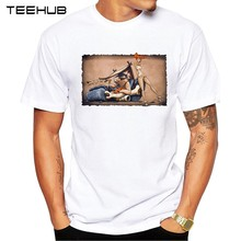 TEEHUB Men's New Fashion Flintstones go Lowbrow Design Short Sleeve T-Shirt Cool Printed Tops Hipster Tee Shirts(China)