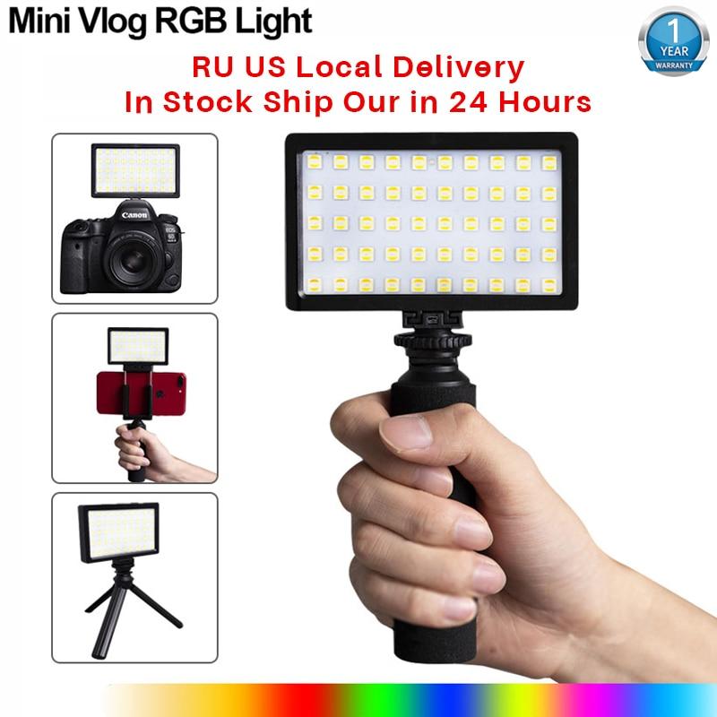 CL 120C 3200K 5600K Mini Vlog LED Video Light Tripod Kit CRI 95 Dimmable Colorful RGB Fill Light Photographic Lighting Photographic Lighting  - AliExpress
