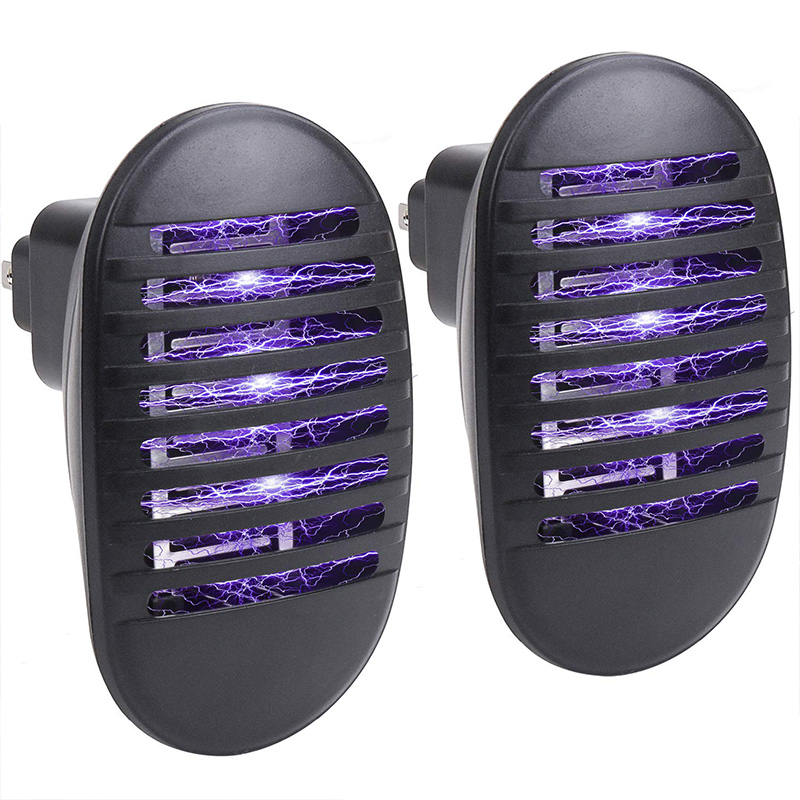 2 Pack Indoor Bug Zapper  Plug In Mosquito Killer with UV Light  Electronic Mosquito Trap for Pests Fruit Flies Flying Gnats US|Mosquito Killer Lamps| |  - title=