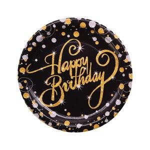 Image 3 - Ballons de table jetable pour anniversaire, banderole, fournitures décoratives pour fête du 30e, 40e, 50e anniversaire, banderole