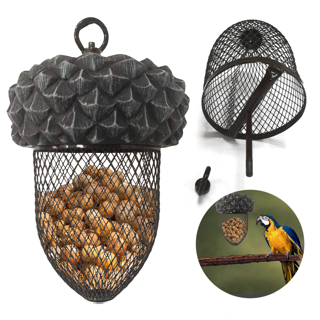 PAPASGIX NEW Creative Birds Feeder Hanging Birds Food Feeding Device Parrot Toy For House Garden Outdoor Cages