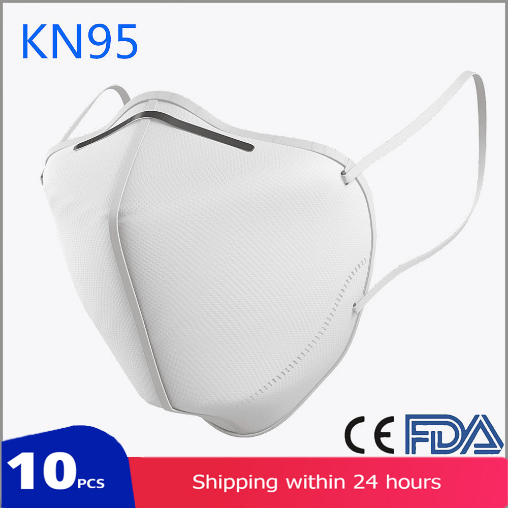 10PCS CE/FDA Certified KN95 Breathable Respirator For Personal Health Protection,  Face Masks Mascarillas Level As KF94 FFP3 N95