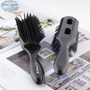 1pc Black Removable Detangling Hair Brush Handle Tangle Comb pompadour men styling Shower Massage scalp Comb Salon Hairdressing(China)