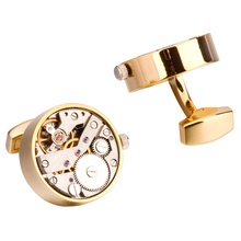 Mechanical Watch Movement Cufflinks For Mens Shirt Cuff Functional Watch Mechanism Cuff Links Designer Brand Jewelry