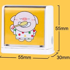 Image 4 - Dostosowane wodoodporna nie znikną nazwa znaczek dziecko znaczki Ticker Cartoon Seal dla dzieci dziecko Pet dla tkaniny buta kołdra kubek