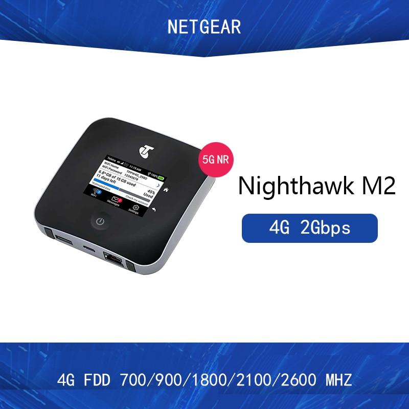 Unlocked Netgear Nighthawk M2 MR2100 Cat20 4GX Gigabit 4G 2Gbps 5CA Mobile 2000mbps WiFi Hotspot +2PCS 5dai Antennas