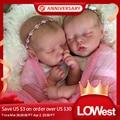 Виниловый комплект для новорожденных RBG, 17 дюймов, комплект для новорожденных, незакрашенные детали для кукол Twin A Twin B без рисунка, комплект ...