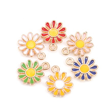 Pendants Charms Flower Sakura Jewelry Gold-Color 20pcs for DIY Doreen-Box Daisy Zinc-Alloy