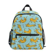 Backpack Girls Doxie Dog Printing School Bags for Kids Schoolbag Mini Book Bag Children Kindergarten Backpack Baby Shoulder Bags fengdong cute lemon printing school backpack kids computer bag children school bags for girls women laptop backpack 14 schoolbag