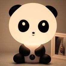 Вилка стандарта ЕС/США животных для чтения настольная лампа для детей светодиодный Ночной светильник мультфильм панда, единорог, Спальня прикроватный светильник s