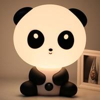 Lámparas de mesa de lectura con enchufe UE/EE. UU. Para niños luces LED de noche de dibujos animados Panda unicornio dormitorio|Lámparas de escritorio| |  -
