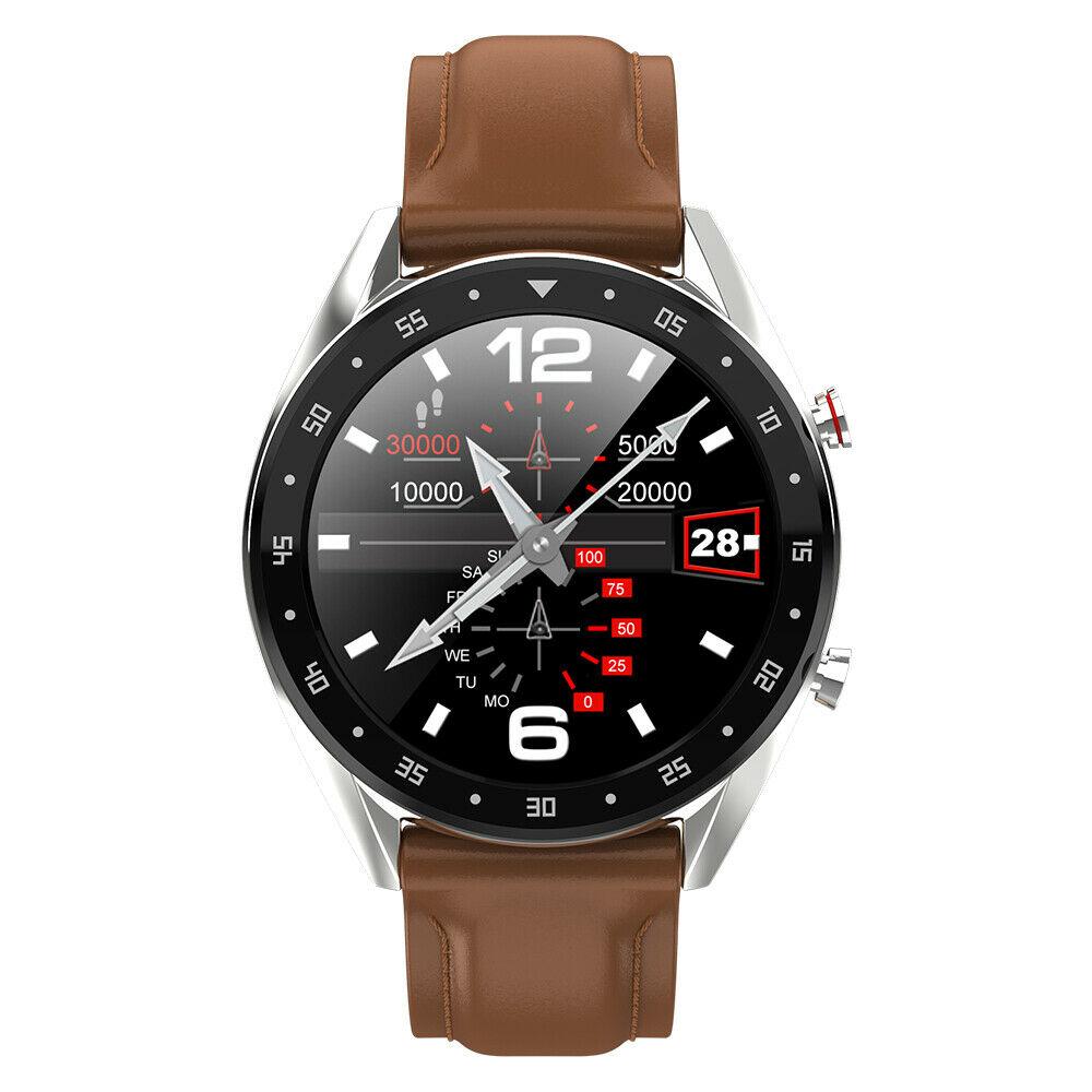LYKRY L7 L5 M8 ECG hommes Smartwatch GPS sport Bracelet BT parler fréquence cardiaque tension artérielle montre IP68 montre intelligente pour Android iOS