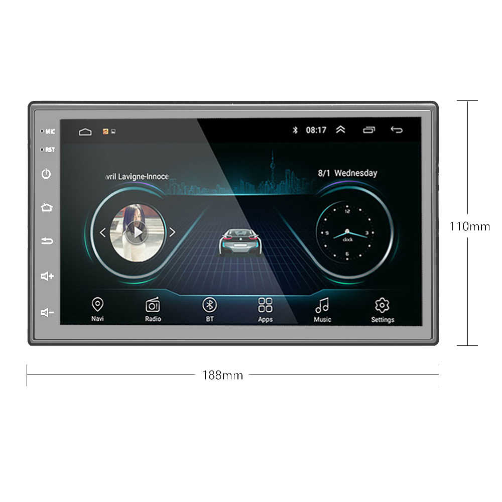 "Byncg 2 din android rádio do carro 7 ""hd autoradio multimídia jogador 2 din tela de toque áudio do carro estéreo mp5 bluetooth"