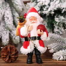 Resin Santa Claus Doll Christmas santa claus doll Holiday Figurine Collection Christmas Ornament Gift Table Decoration