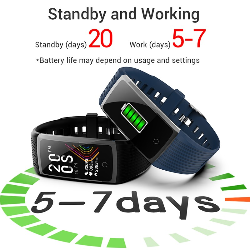 H91a7aa7b5c2c45189a37002ab3ae44335 R12 Smart Band Bracelet Fitness Bracelet with Pressure Measurement Health Wristband Pedometer Heart Rate Monitor Cardio Bracelet