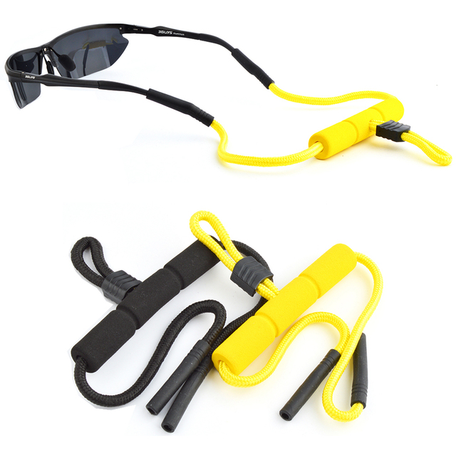 Wholesale 20pcs New Style Outdoor sport Glasses Floating Cords Sun Glasses Ski Snowboard Fishermen Boaters glasses head band
