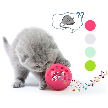 New Creative Vocal Cat Toy Cat Self-hey Bell Ball Small Dog French Bulldog Teddy LED Glowing Cat Toy Pet Supplies image