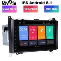 9 Android 8.0 car radio multimedia player dvd gps For Mercedes Benz Sprinter B200 W209 W169 B class W245 B170 Vito autoradio