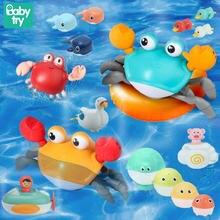 Детские Игрушки для ванны с ветром бассейна заводная утка Кит