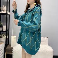 women's sweaters new 2020 fashion plus size women's hooded warm sweater sweater loose lazy winter jacket women
