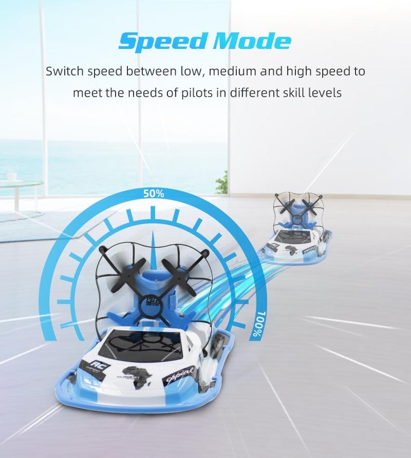 3 в 1 Радиоуправляемый Дрон лодка автомобиль вода наземный воздушный режим Три режима Безголовый режим удержание высоты радиоуправляемые вертолеты игрушки для детей