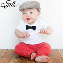 ZAFILLE Newborn Infant Baby Boy Clothes Short Sleeve Toddler Outfits Summer Cotton Baby Boy Clothes Bow Tie Boys Suit Kids Cloth 2017 spring newborn baby boy clothes bow lie kids suit clothing sets 3pcs children bebe solid cloth outfit sport coats boys