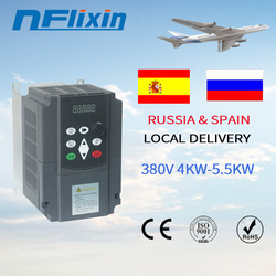 QD350 Mini VFD 3phase 380v input output 50/60Hz 5.5kw power Variable Frequency Inverter for Motor Speed Control Converter
