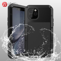 Waterproof Phone Case For iphone 11 Case Shock Dirt Proof Water Resistant Metal Armor Cover For iphone 11Pro /11 Pro Max Caso
