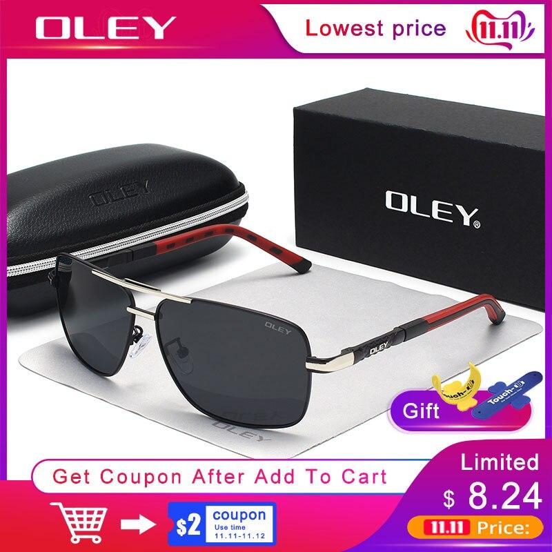 OLEY marque hommes lunettes de soleil polarisées femmes lunettes de soleil conduite lunettes Oculos soutien logo personnalisation Y8724