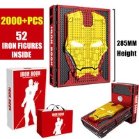 New MOC Iron Man Collections Book Fit Lepining Marvel Avengers Building Blocks Bricks Toys SY1361 Christams Gifts for Children
