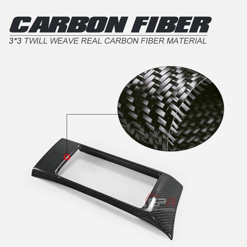 Diseño de coche de fibra de carbono de navegación envolvente acabado brillante Brújula de coche ribete de fibra interior Drift Racing parte para BRZ FT86 GT86 RHD