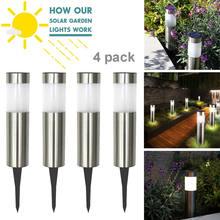 LED Solar Light Stainless Steel Solar Lamp Garden Solar Lights 2V Rechargeable Battery For Terrace Glows 6-8 Hours In The Dark