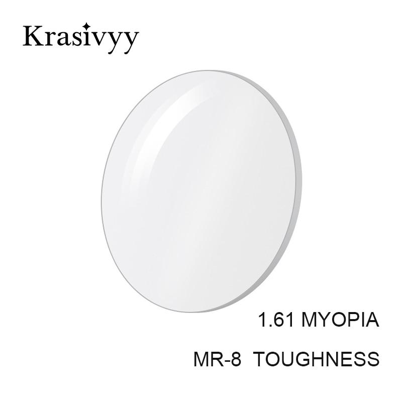 Krasivyy 1.61 MR-8 High Quality Toughness Thinner Super-Tough Optical Lenses Aspheric Lens (Suggest for Punch/Trough/Trim)