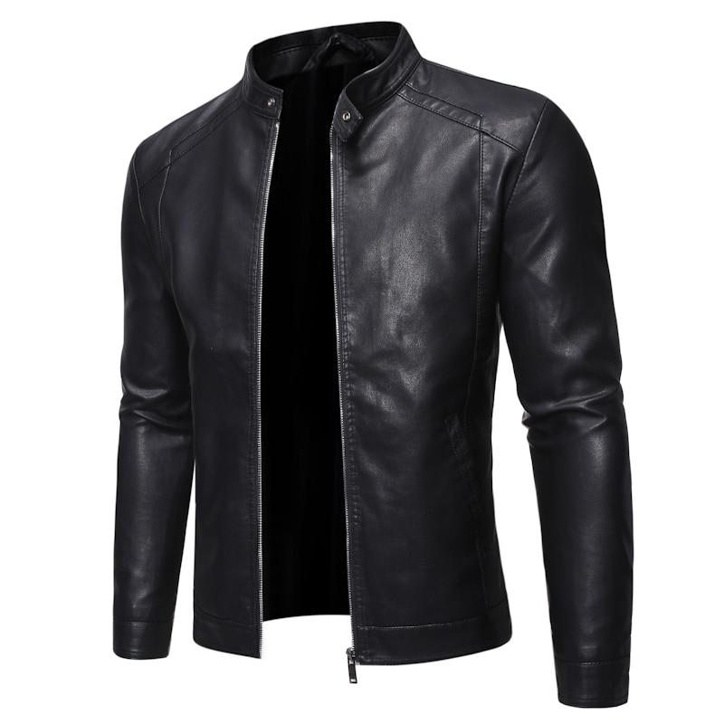 Men Faux Leather Jacket Motorcycle 5XL Men's  Jackets Black  Jaqueta De Couro Masculina Outwear Male PU Leather Coats Mens,ZA319