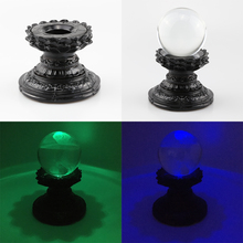 Sphere-Holder Lens-Ball Lotus-Display-Stand Crystal Glass Divination Magic Photography