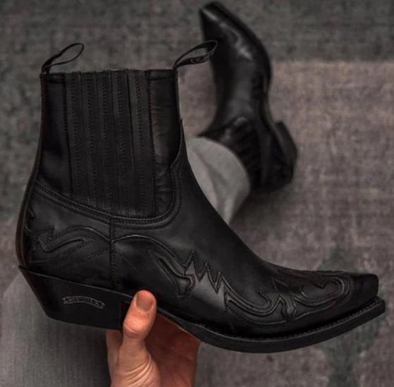 Winter Fashion British Men Top Quality PU Leather Slip on Boots Breathable Chelsea Boots Male Casual Zapatos De Hombre D331