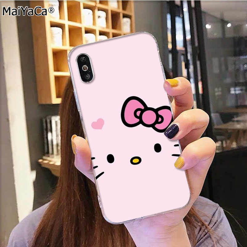 MaiYaCa Hot Modieuze Hello Kitty op verkoop telefoon Accessoires cover voor iphone 11 pro 8 7 66S Plus X 5S SE XR XS XS MAX cover