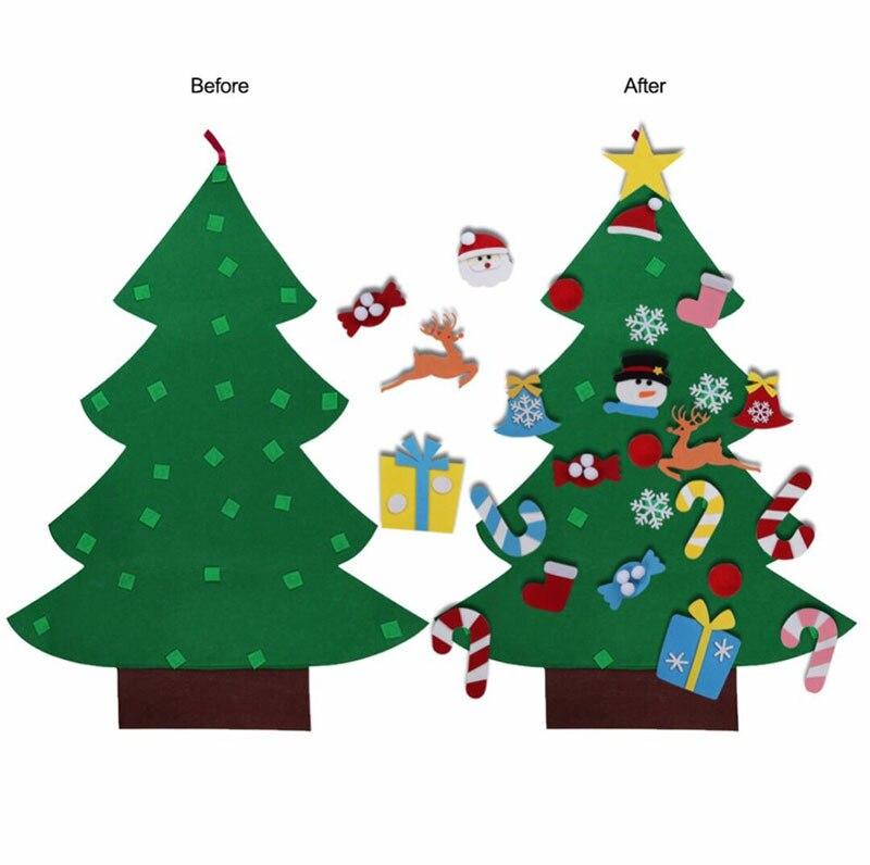 Christmas Decoration Felt Christmas Tree Luxury Decoration Children Toys DIY Three-dimensional Christmas Tree Handmade Kid Craft