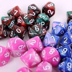 10 шт./компл. 10-сторонние D10 многогранные циферблаты, циферблаты, настольные игры, Прямая поставка