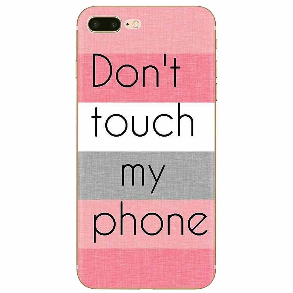 Inspirujące silikonowe etui na telefon nie dotykaj mojego telefonu dla Xiaomi Mi3 Mi4 Mi4i Mi4C Redmi uwaga 2 3 3S Pro 5 uwaga 5A