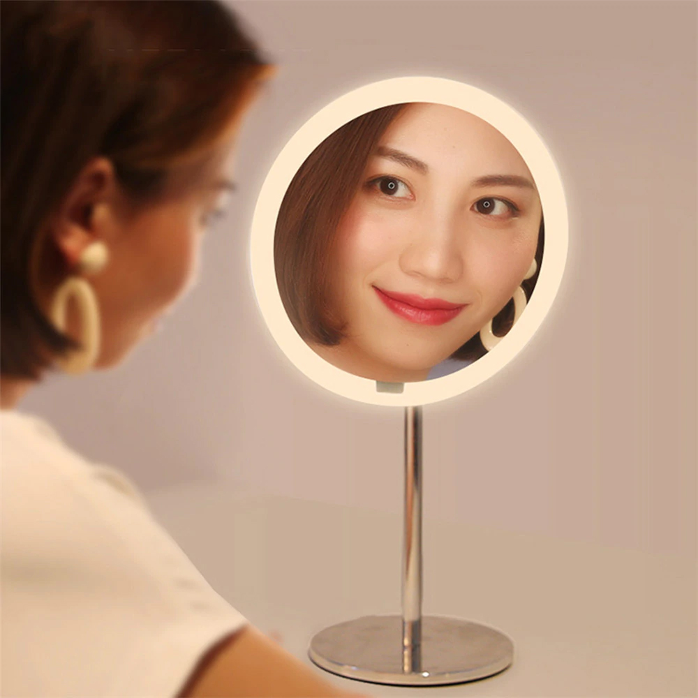 Image 3 - Yeelight LEDs Makeup Mirror Light Touching Control make up led vanity lights Night Light for Xiaomi Mirror With Light