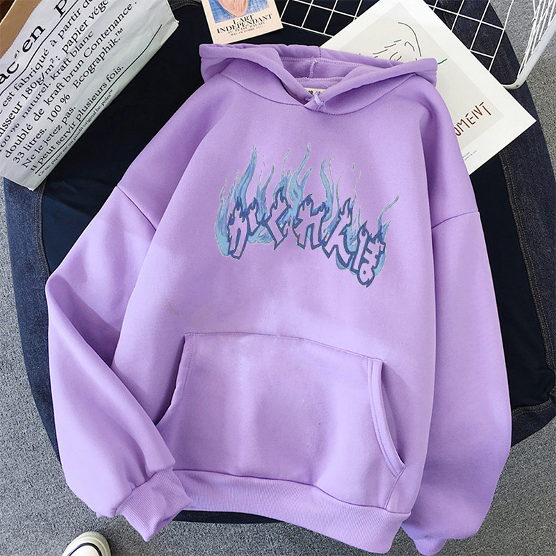 Oversized hoodies womens harajuku plus size women sweatshier fashion print korean style winter coat pink clothing 4
